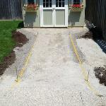We can help you install a boarder to help hold in place your patio stone or interlocking brick